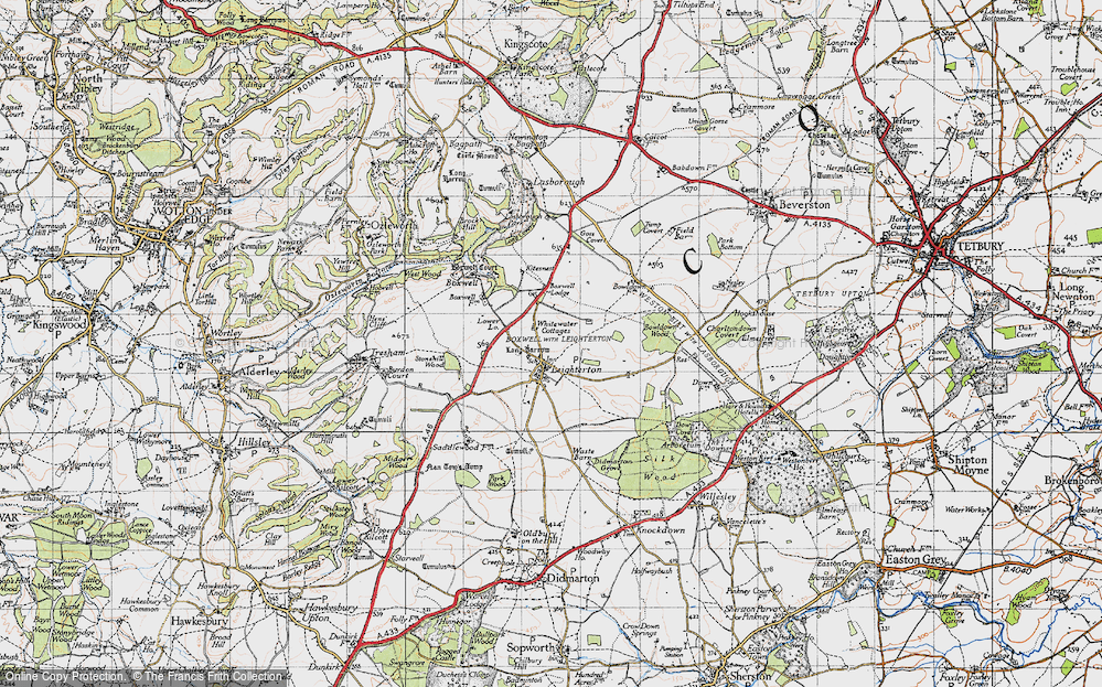 Old Map of Leighterton, 1946 in 1946