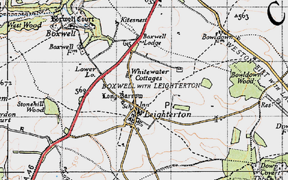 Old map of Leighterton in 1946