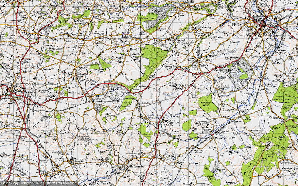 Old Map of Leighton, 1946 in 1946