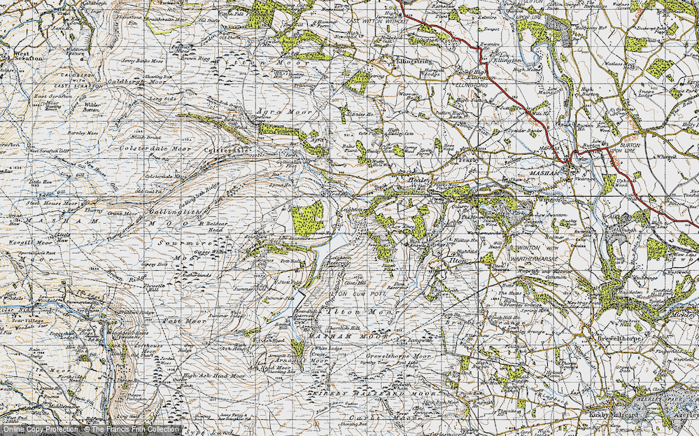 Old Map of Historic Map covering Leighton Resr in 1947