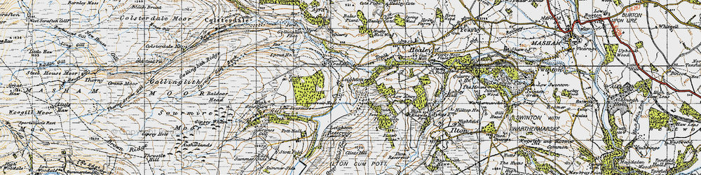 Old map of Leighton Resr in 1947