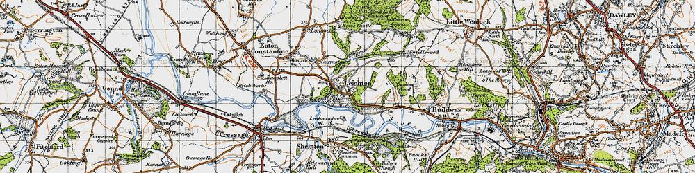 Old map of Leechmeadow Cott in 1947