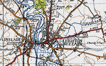 Old map of Leighton Buzzard in 1946
