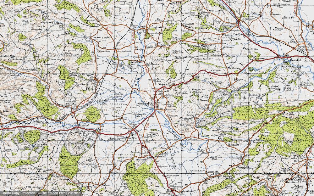 Old Map of Leintwardine, 1947 in 1947
