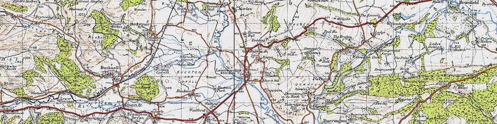 Old map of Leintwardine in 1947