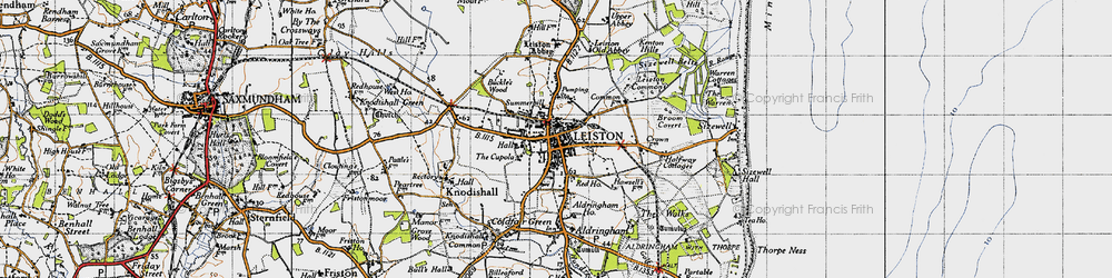 Old map of Leiston in 1946