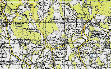 Old map of Leith Hill Place in 1940