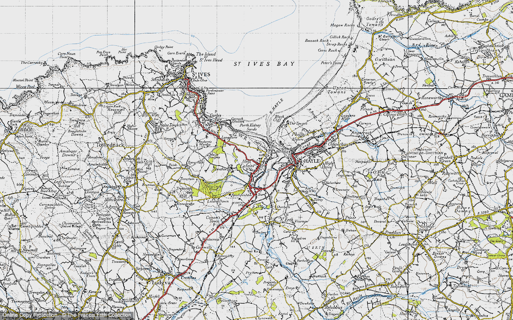 Old Map of Lelant, 1946 in 1946
