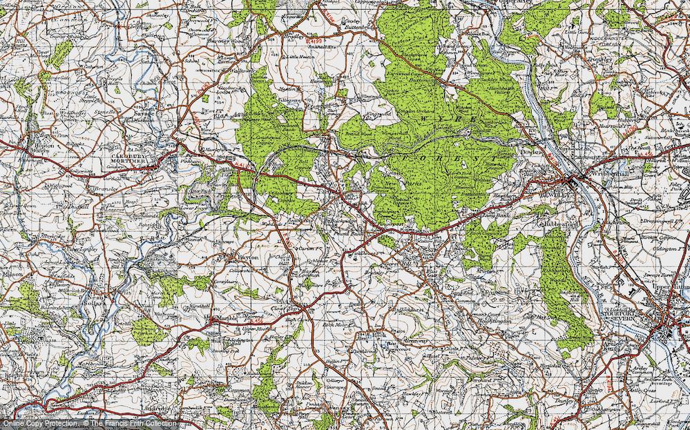 Old Map of Lem Hill, 1947 in 1947