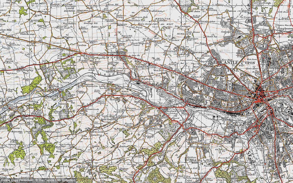 Old Map of Lemington, 1947 in 1947