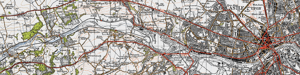 Old map of Lemington in 1947