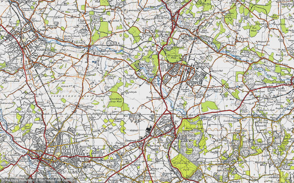 Old Map of Lemsford, 1946 in 1946