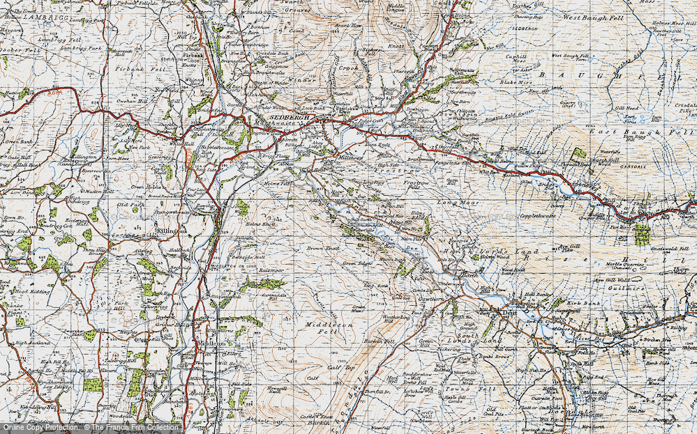 Old Map of Lenacre, 1947 in 1947
