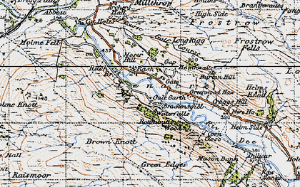 Old map of Lenacre in 1947