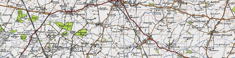 Old map of Lenborough in 1946