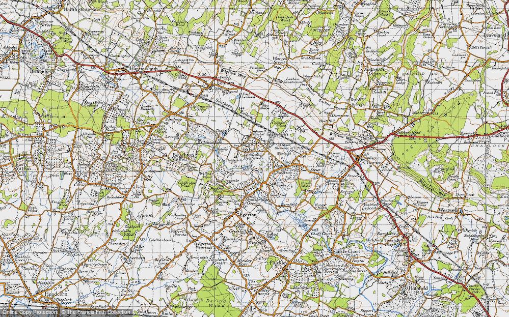 Old Map of Lenham Heath, 1940 in 1940