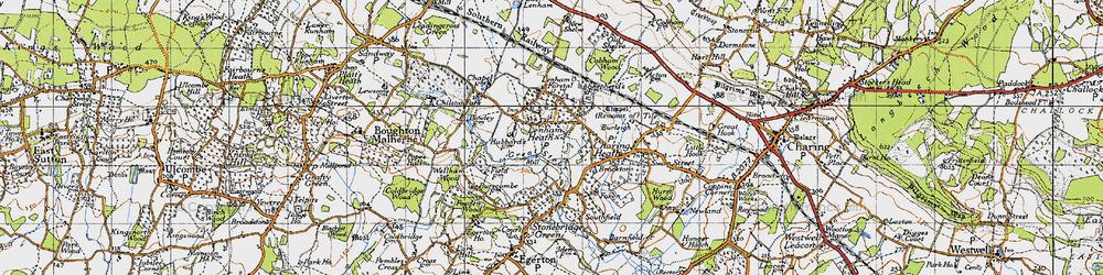 Old map of Lenham Heath in 1940