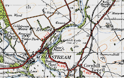 Old map of Lennelhill in 1947