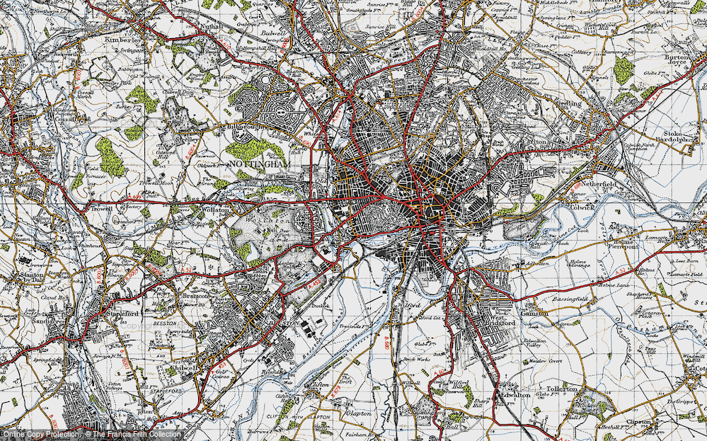 Old Map of Lenton, 1946 in 1946