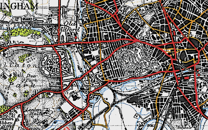 Old map of Lenton in 1946