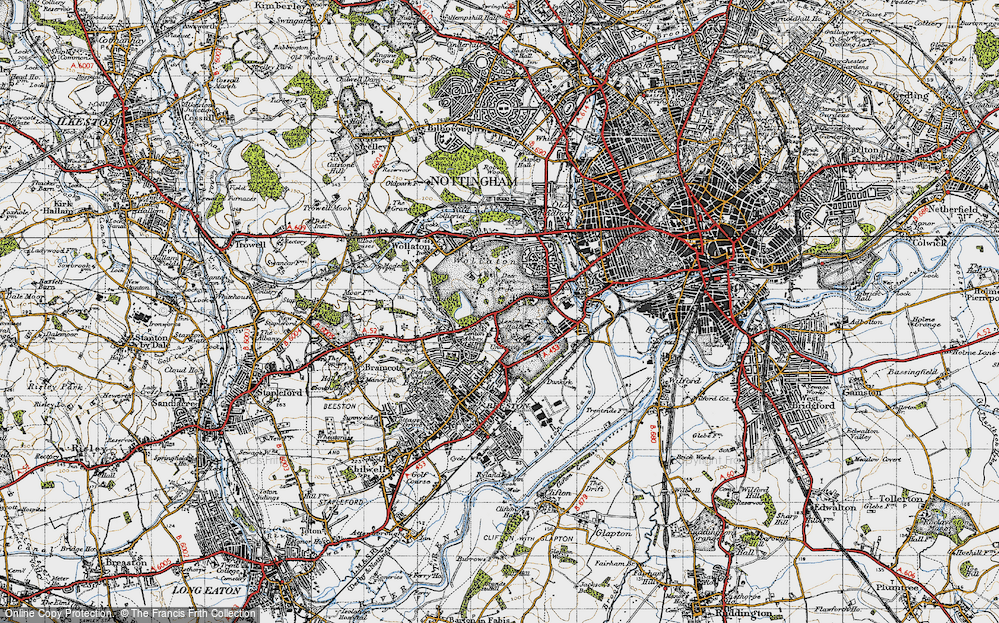 Old Map of Lenton Abbey, 1946 in 1946