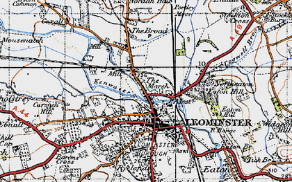 Old map of Leominster in 1947