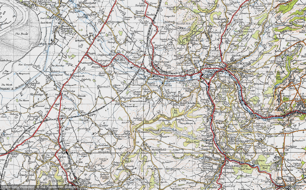 Old Map of Leonard Stanley, 1946 in 1946