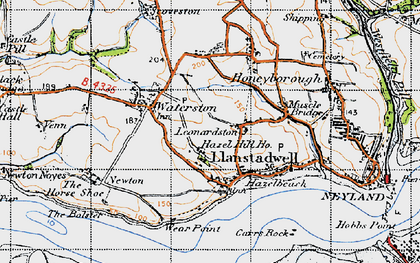 Old map of Leonardston in 1946