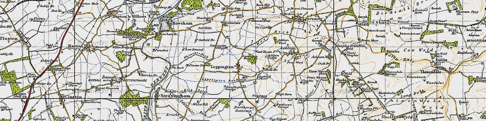 Old map of Acklam Wood in 1947