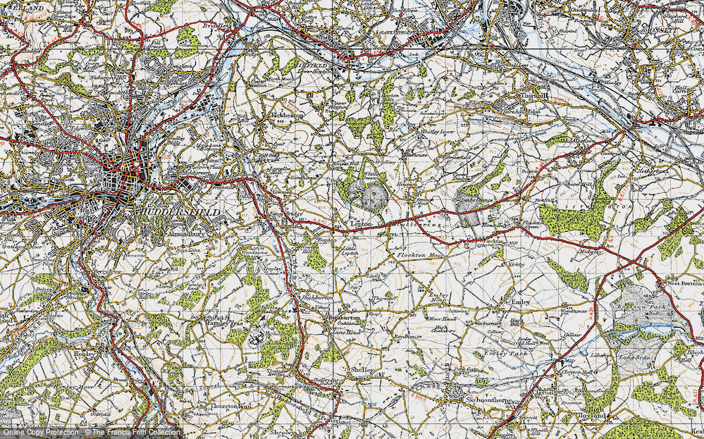 Old Map of Lepton, 1947 in 1947