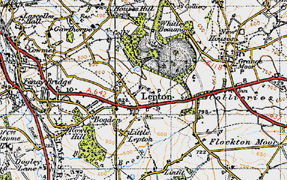Old map of Lepton in 1947