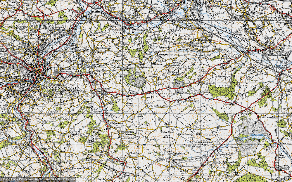 Old Map of Lepton Edge, 1947 in 1947