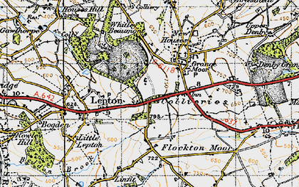 Old map of Lepton Edge in 1947