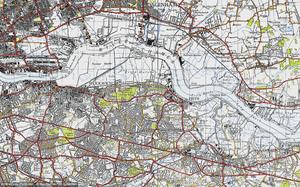 Old Map of Lessness Heath, 1946 in 1946
