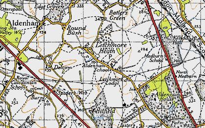 Old map of Aldenham School in 1946