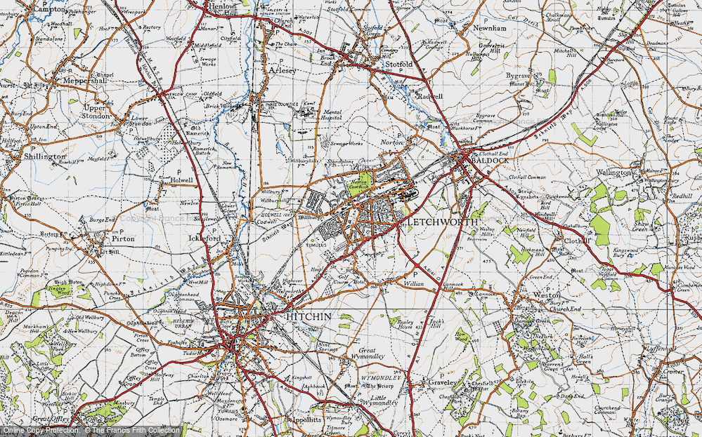 Old Map of Letchworth Garden City, 1946 in 1946