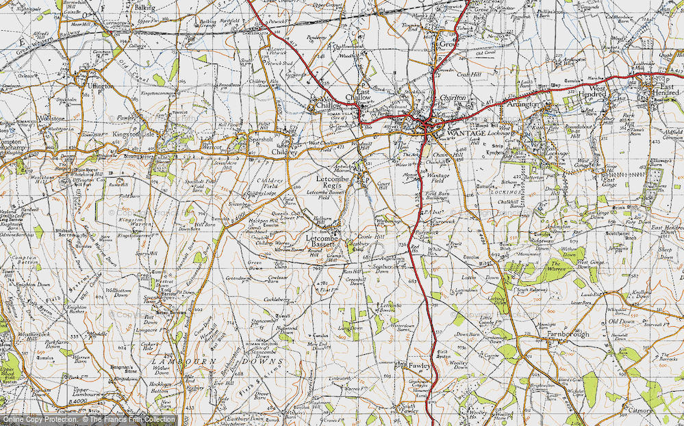 Old Map of Letcombe Bassett, 1947 in 1947