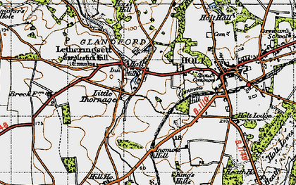 Old map of Letheringsett in 1946