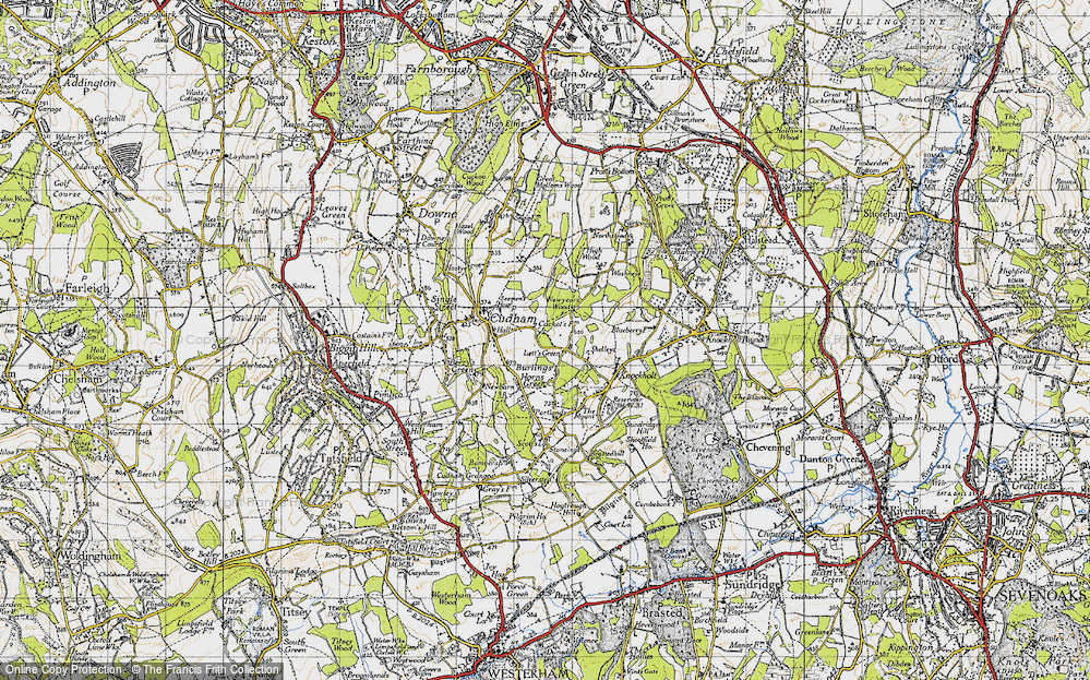 Old Map of Lett's Green, 1946 in 1946