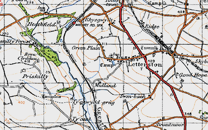 Old map of Letterston in 1946