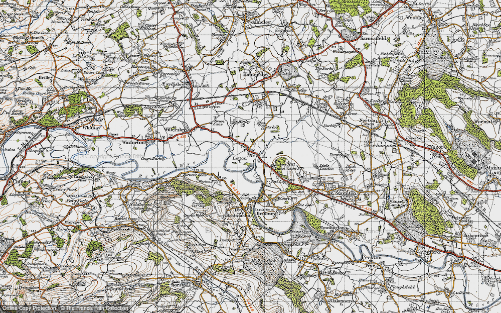Old Map of Letton, 1947 in 1947