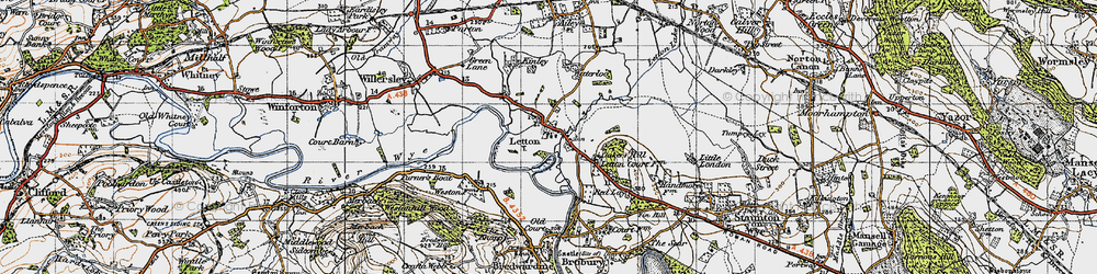 Old map of Weston, The in 1947