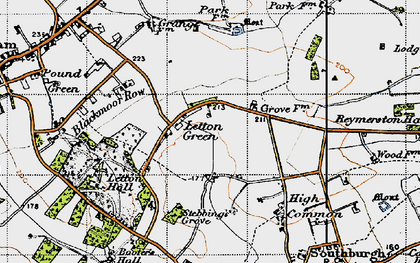 Old map of Letton Hall in 1946