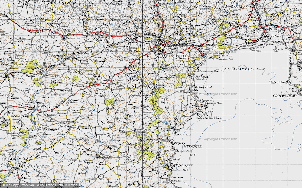 Old Map of Historic Map covering Levalsa in 1946