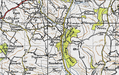 Old map of Levalsa Meor in 1946