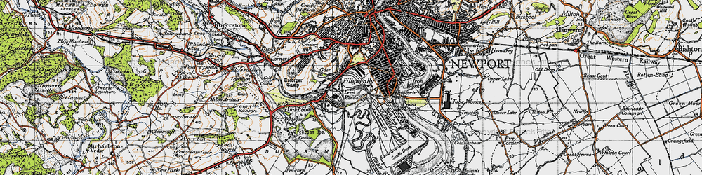 Old map of Level of Mendalgief in 1946