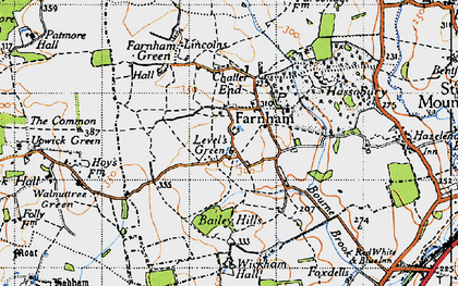Old map of Level's Green in 1946