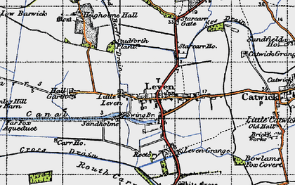 Old map of Leven Carrs in 1947