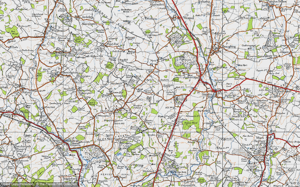 Old Map of Levens Green, 1946 in 1946