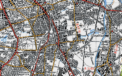 Old map of Levenshulme in 1947